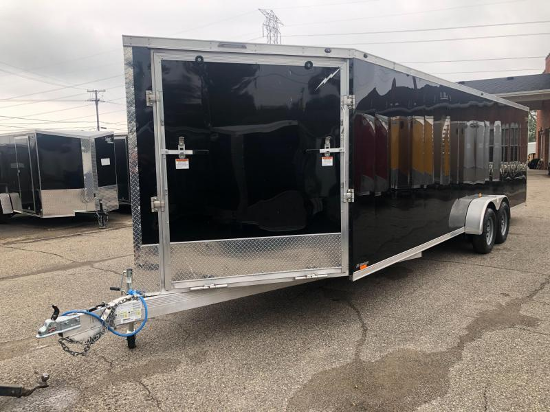 7x29ft 5-place Snow Trailer - 7ft Interior - All Aluminum *Damaged Exterior*