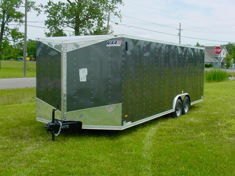 "8.5x16 Enclosed Car Hauler - H-Duty 16"" on Center"