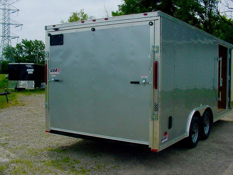 "8.5x16 Enclosed Car Hauler - H-Duty 16"" on Center"