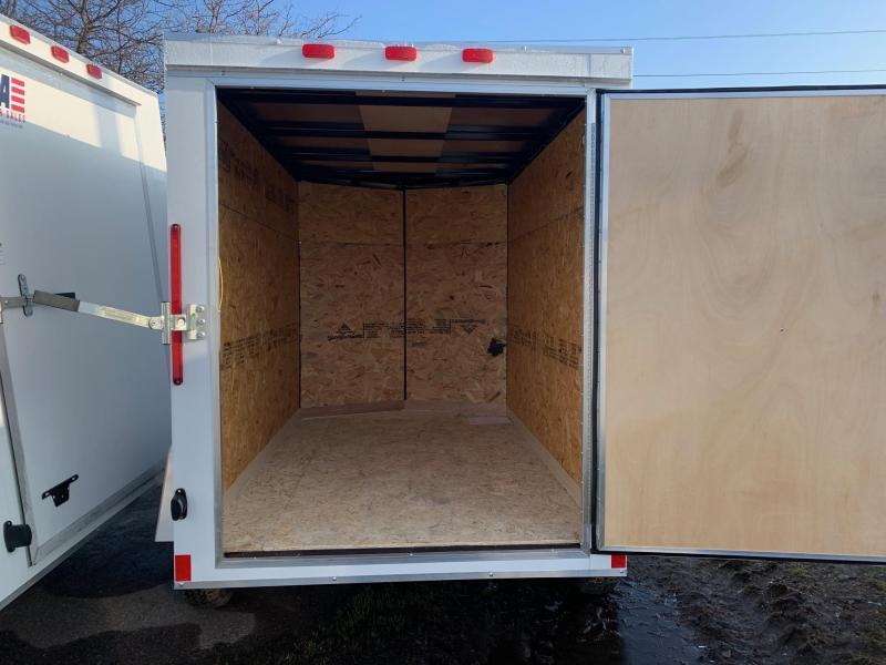 5x10 Enclosed Trailer: V-nose & Rear Barn Door