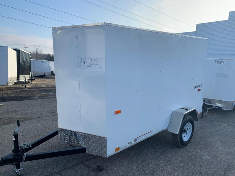5x10 Enclosed Trailer: V-nose & Rear Barn Door
