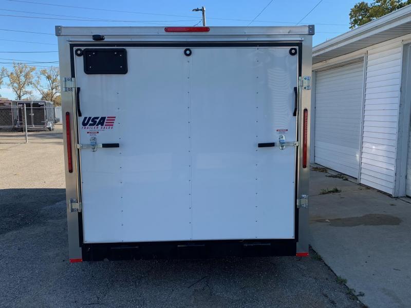 7x14 USA Model w/ Ramp Door (White)