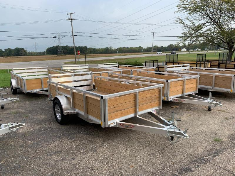 Aluminum High Side Utility Trailer -- 5.5x10 -- 3500lb axle