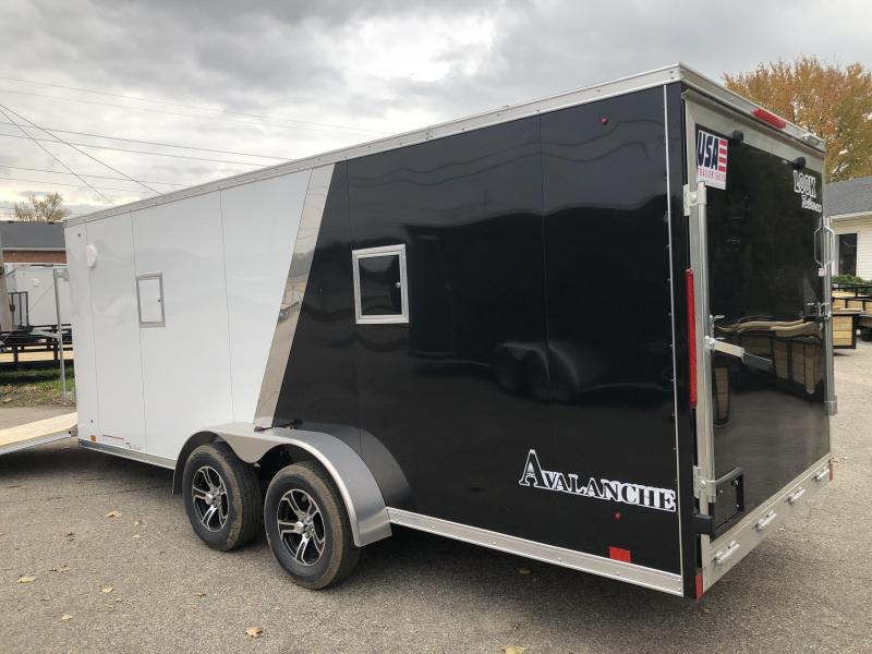 7x23 LOOK 3-Place Snow Trailer - Loaded Avalanche Package