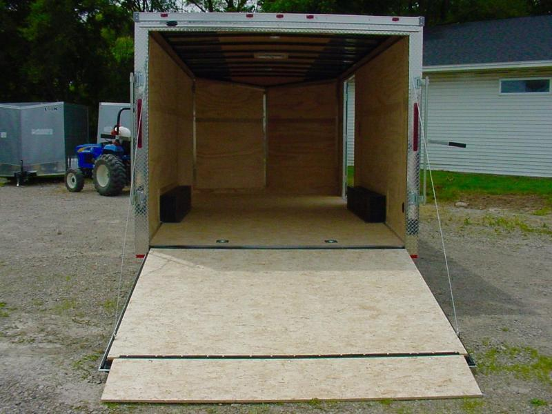 "*OLD STOCK 2019* 8.5x16 Enclosed Car Hauler - 16"" on Center Construction - Tube Frame"