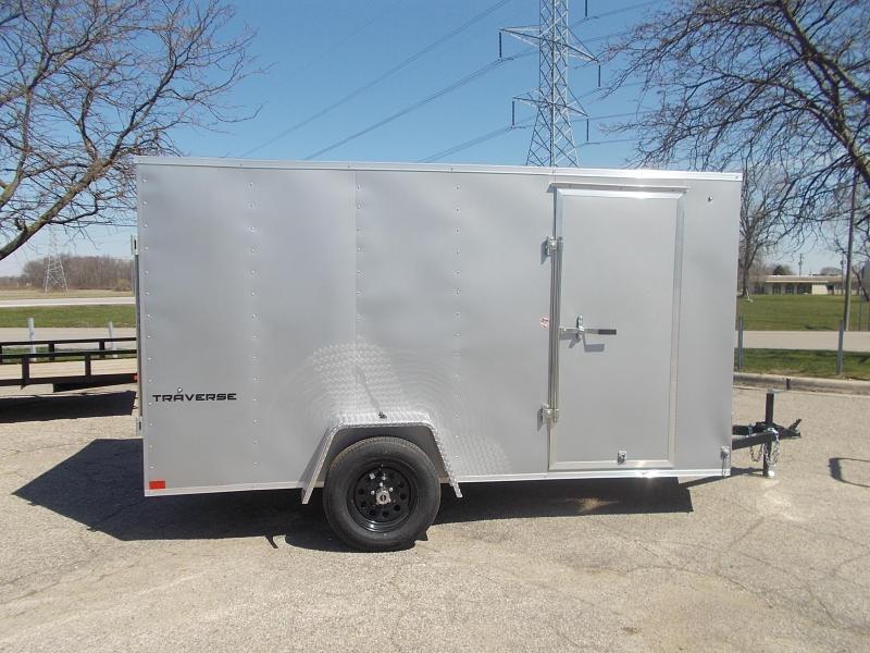 6x12 Formula Enclosed Trailer  W - Ramp Door & Sloped V-Nose
