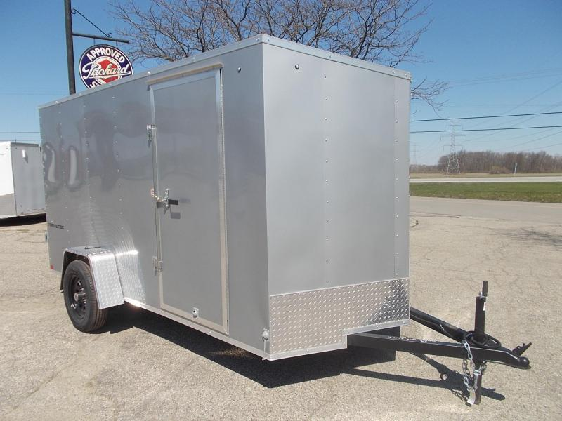 6x12 Formula Enclosed Trailer  W - Ramp Door & Sloped V-Nose