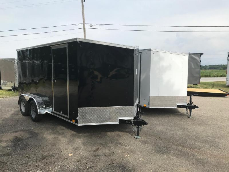 7x16 DLX Model Mid-Level Trailer - HIGH QUALITY FOR LOW PRICE!