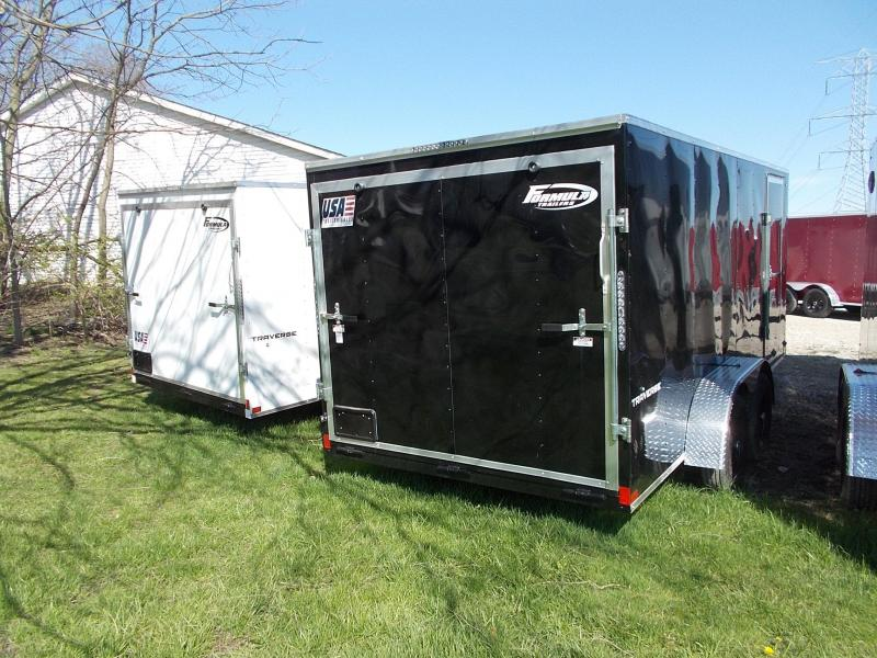 7X14 Formula Enclosed Trailer  W - Ramp Door & Sloped V-Nose