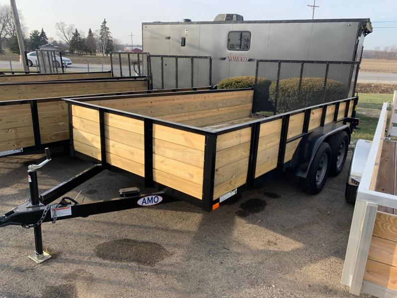 "6'10"" x 14' A.M.O. Tandem High Side Trailer - 2 Axle Brake"