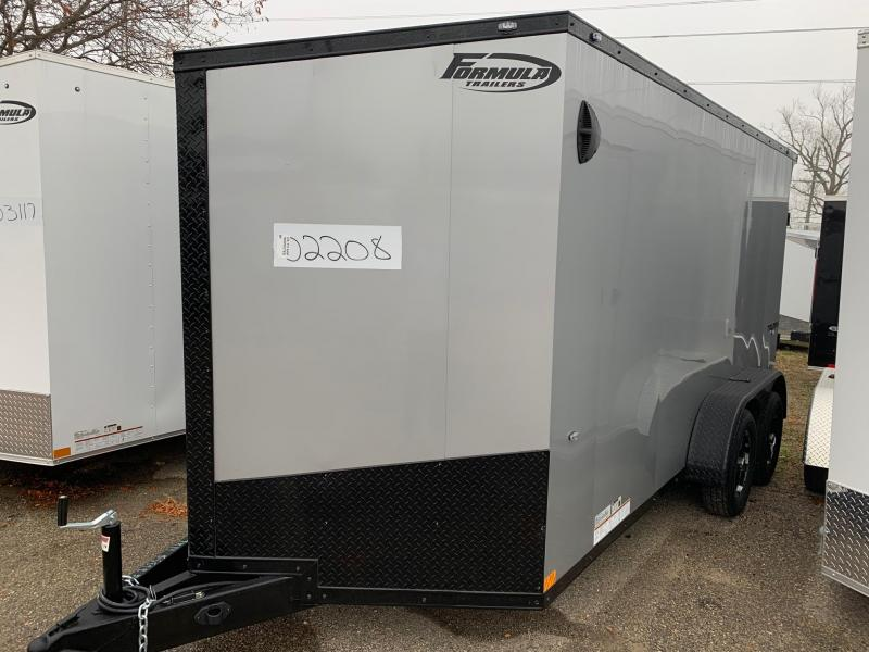 7x14 Formula Trailer w/ Flare Package - 7' Interior Height - Smooth Exterior - Aluminum Wheels