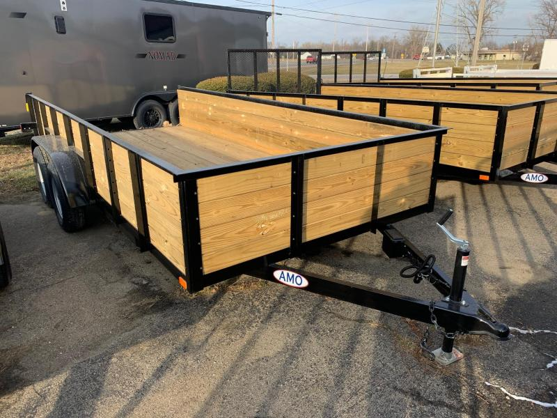 "6'10"" x 16' A.M.O. Tandem High Side Trailer - 2 Axle Brake"