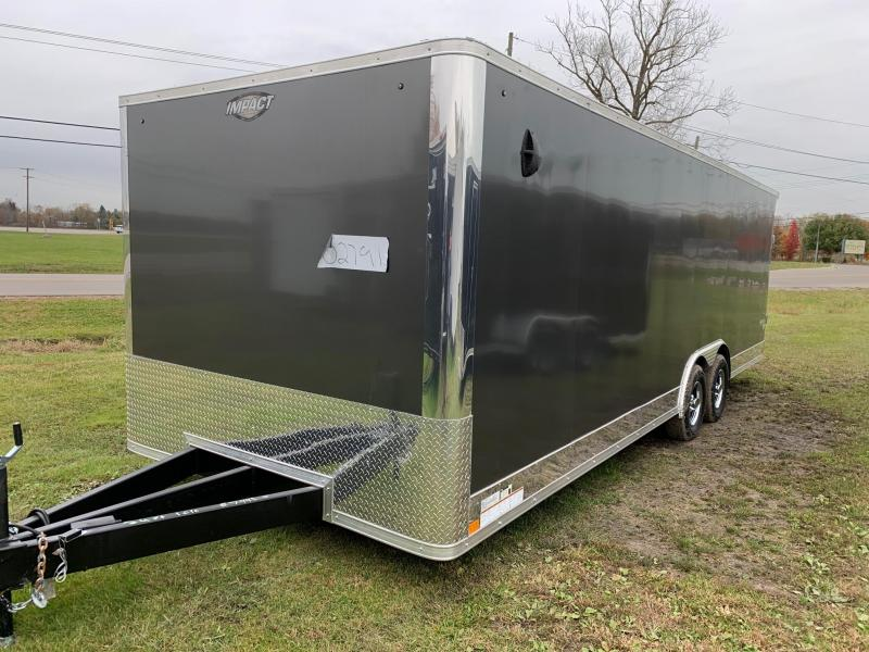 8x24 Impact - 10,000lb Enclosed Car Hauler - Screwless Exterior - Full 16