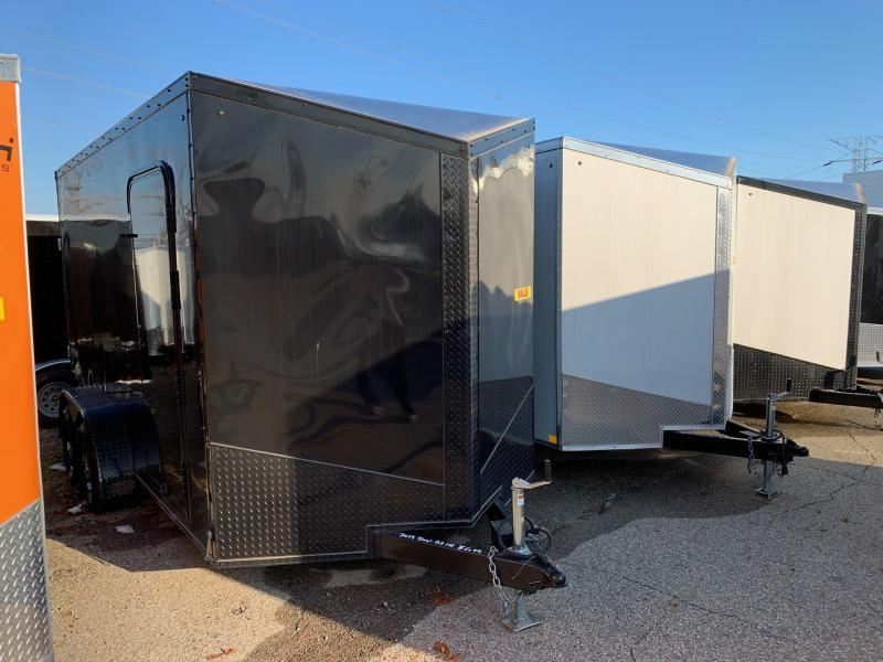 *2019 Model Clearance* 7x14 Impact Trailers Tremor Enclosed Cargo Trailer - 7' Interior Height - Smooth Exterior - Aluminum Wheels