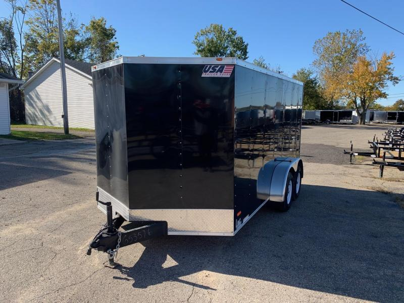 *CLEARANCE* 7x16 USA Model w/ Ramp Door (Black)