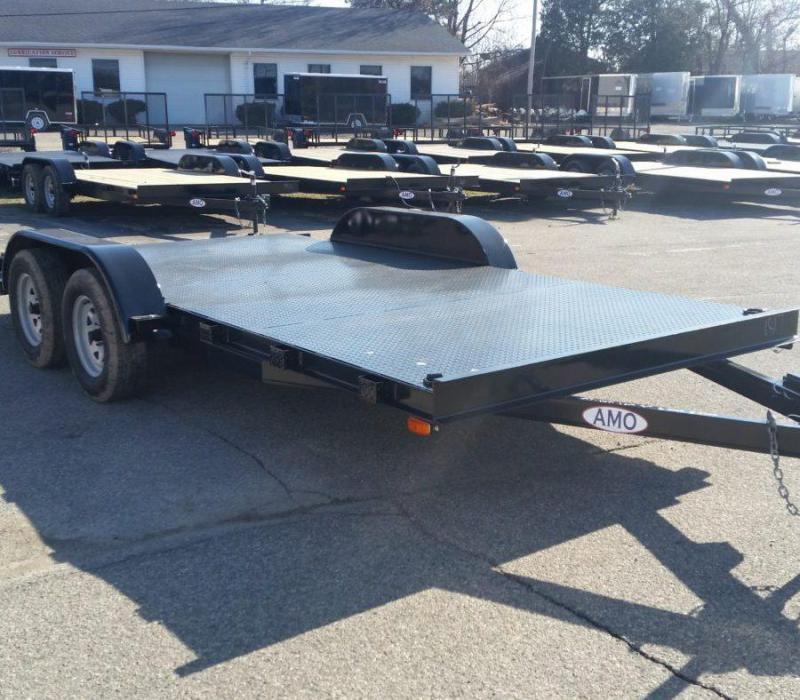 20ft Steel Deck Car Hauler w/ 1 Axle Brake