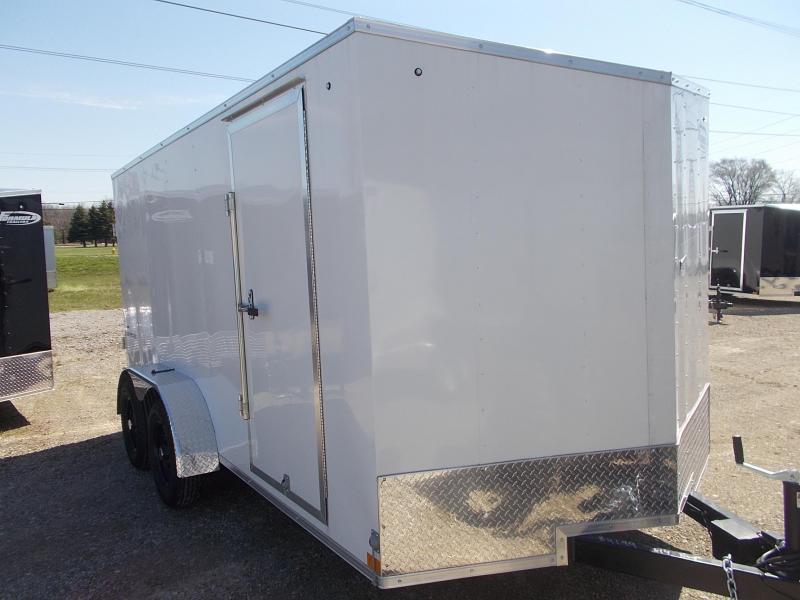 7X16 Formula Enclosed Trailer  W - Ramp Door & Sloped V-Nose