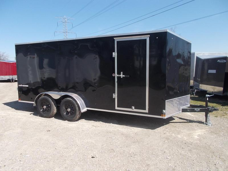 7X16 Formula Enclosed Trailer  W - Ramp Door & Sloped V-Nose