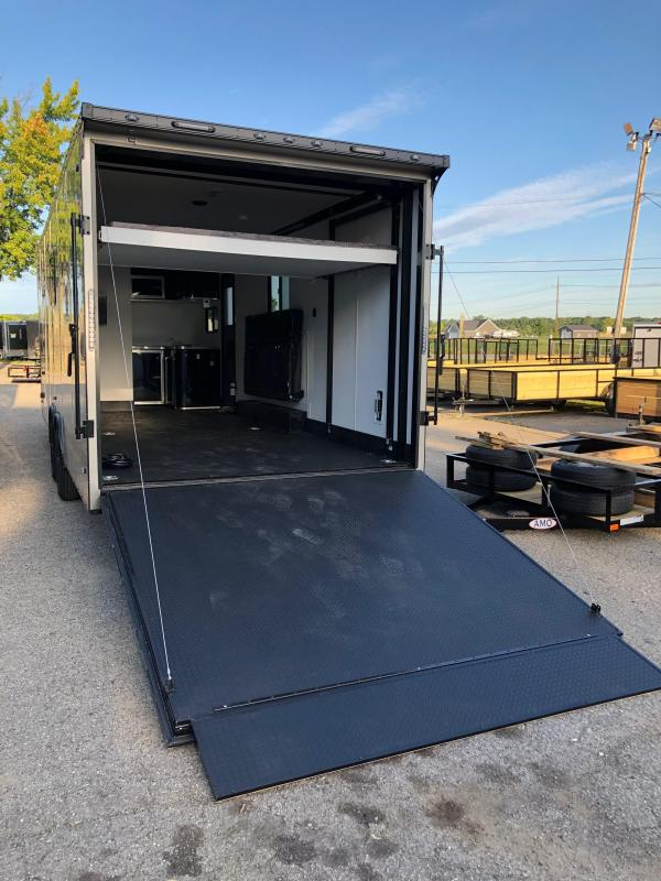 STEALTH NOMAD Deluxe Toy Hauler & Travel Trailer with Living Quarters - 12K Split Axle