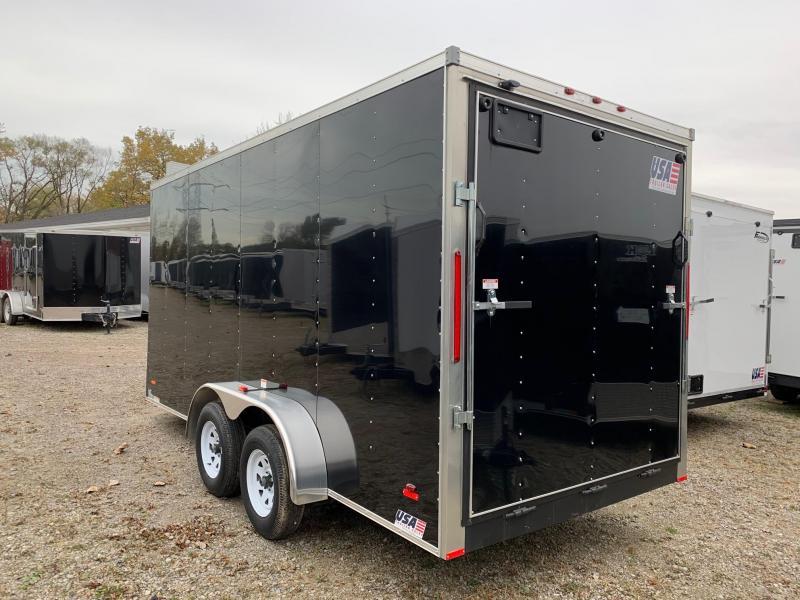 7x16 USA Model - 7' Inside Height - w/ Ramp Door (Black)