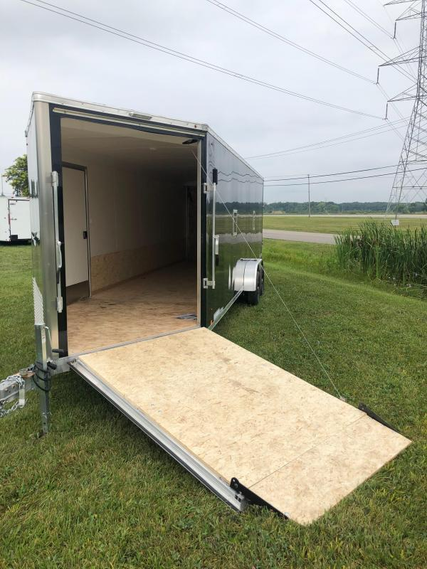 """7x27ft 4-place Snow Trailer - 6'6"""" Inside Height - Loaded Snow Package - All Aluminum - All 16"""" on Center"""