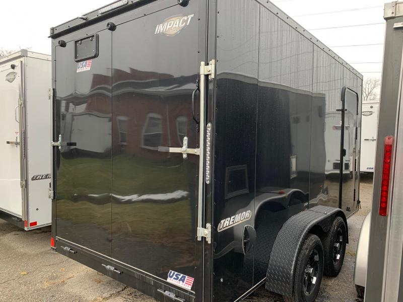 "*2019 Model Clearance* 7x14 Impact Trailer w/ Option Package - Blackout Trim/Wheels - 7' Interior Height - 16"" on Center"
