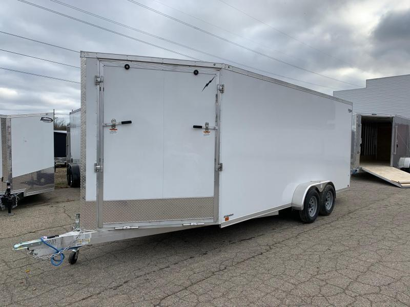 7x23ft 3-place Snow Trailer -- 7' Interior Height -- All Aluminum