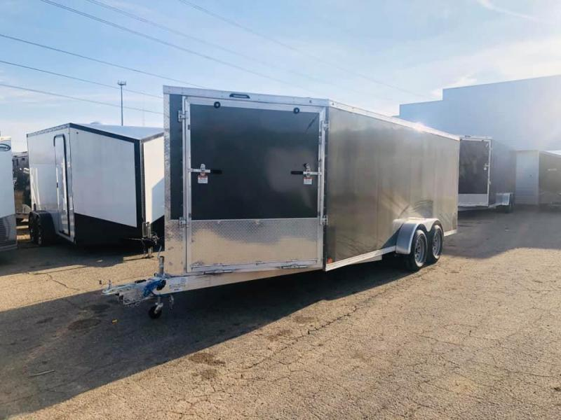 2020 Lightning Trailers 3 Place All Aluminum Snowmobile Trailer