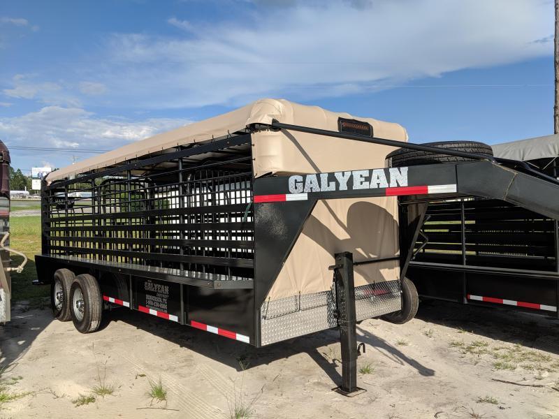 2019 Galyean Stock 20 Livestock Trailer