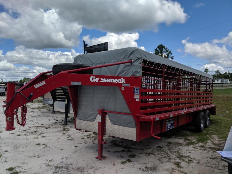 2019 Gooseneck 19 - 24' x 6'4 Livestock Trailer