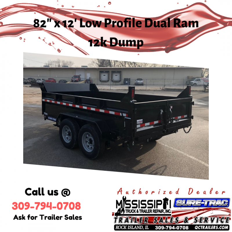 2020 Sure-Trac 82 IN X 12 LProfile 12K Dual Ram Dump