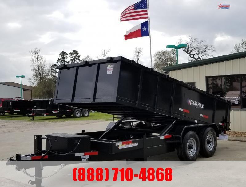 2020 Texas Pride Trailers 7X16X3 BP 16K SPECIAL Dump Trailer