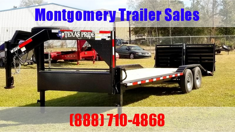 2020 Texas Pride Trailers 24 Gooseneck Lowboy Equipment Trailer