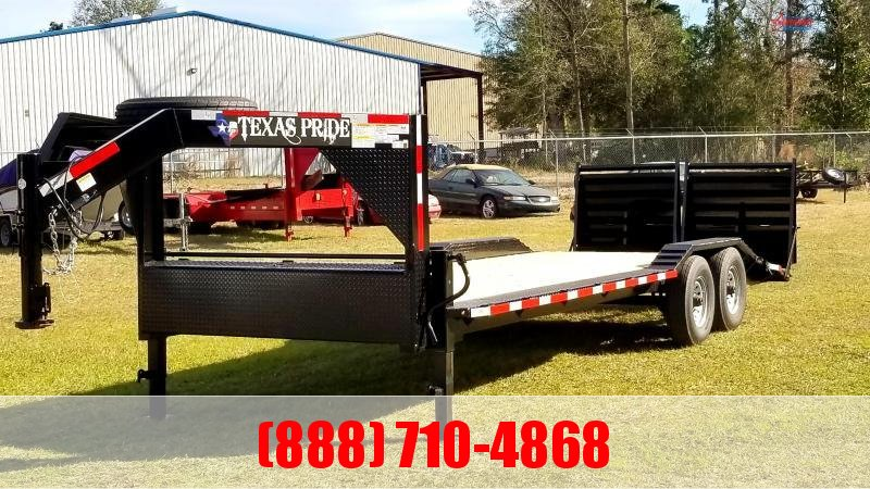 2020 Texas Pride Trailers 24 Gooseneck Lowboy Equipment Trailer