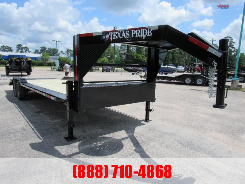 2020 Texas Pride Trailers 26' Gooseneck Lowboy Equipment Trailer