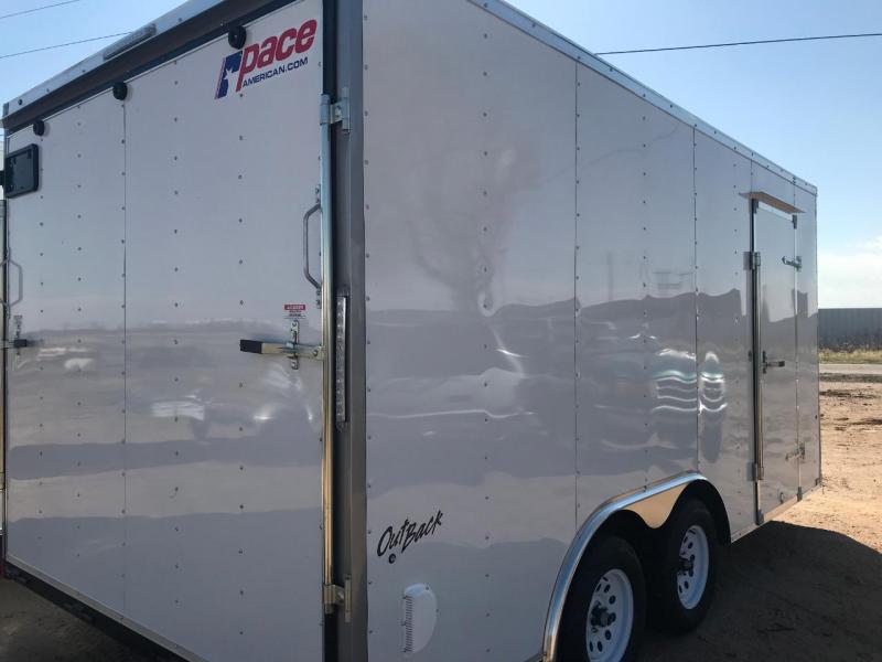 2020 Pace American Outback 8.5 x 16 Enclosed Cargo Trailer