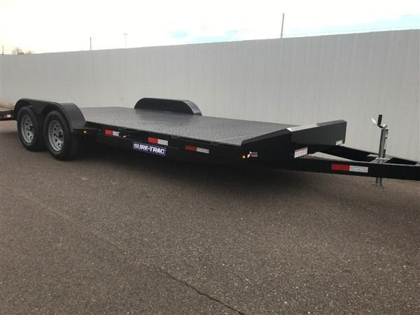 2019 Sure-Trac Steel Deck Car Hauler Trailer