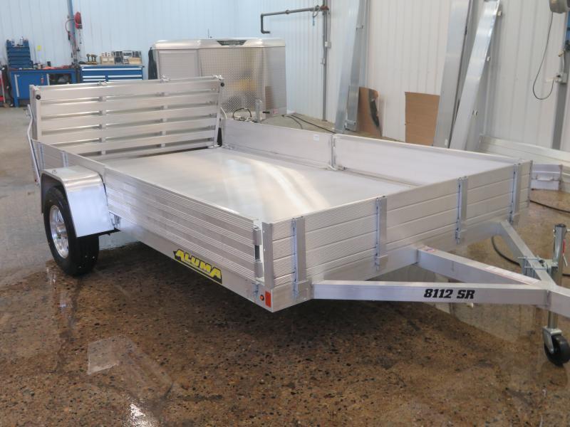 2020 Aluma 81''X12' Utility Trailer 8112SR