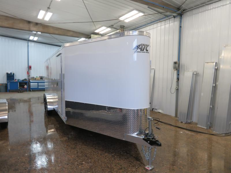 2020 ATC 7'X20'+6' Enclosed Snowmobile Trailer