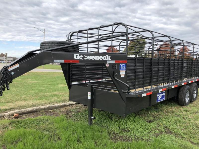 "2020 Gooseneck 6'8"" x 24 Stock Trailer"