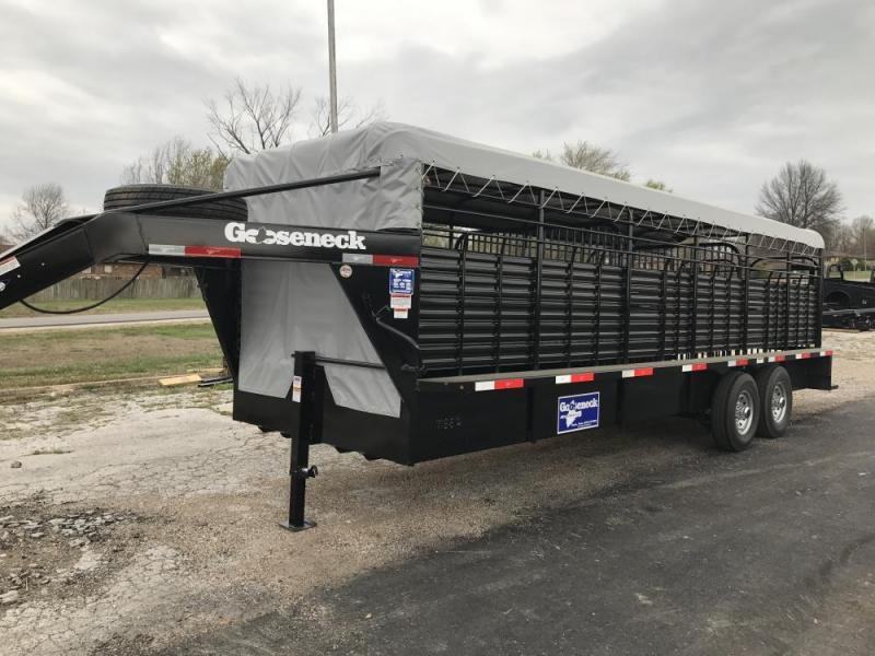 "2020 Gooseneck 6'8"" x 24 Bar Top Stock Trailer"