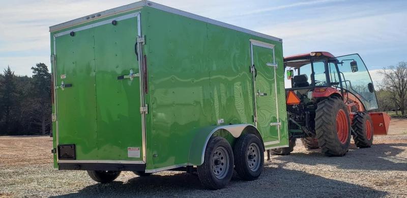 2020 Deep South 6x12 Tandem Axle Enclosed Cargo Trailer - Orange Metal