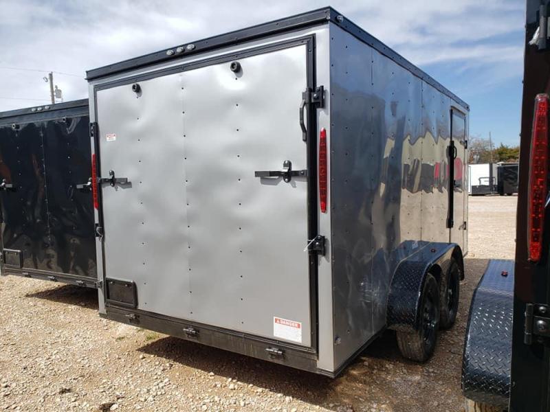 2020 Deep South 7x14 Tandem Axle Enclosed  Cargo Trailer - Silver Black Trim Package