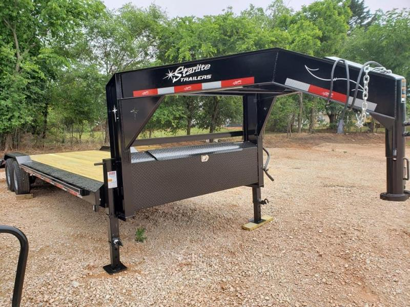 "2020 Starlite Trailers 102"" x 24' Open Bed Gooseneck Flatbed Trailer"