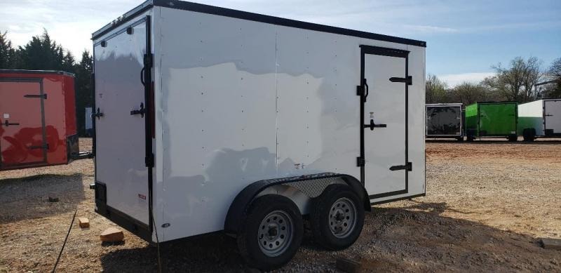 2020 Deep South 6x12 Tandem Axle Enclosed Cargo Trailer - White Black Out Package