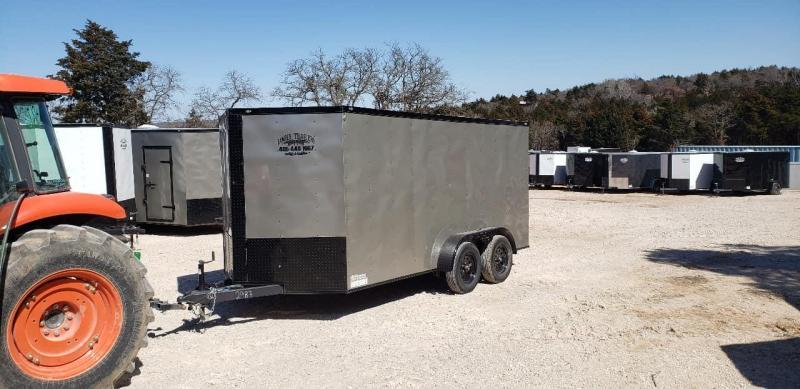2020 Deep South 7x14 Tandem Axle Enclosed  Cargo Trailer - Arizona Beige w/ Black Trim Package