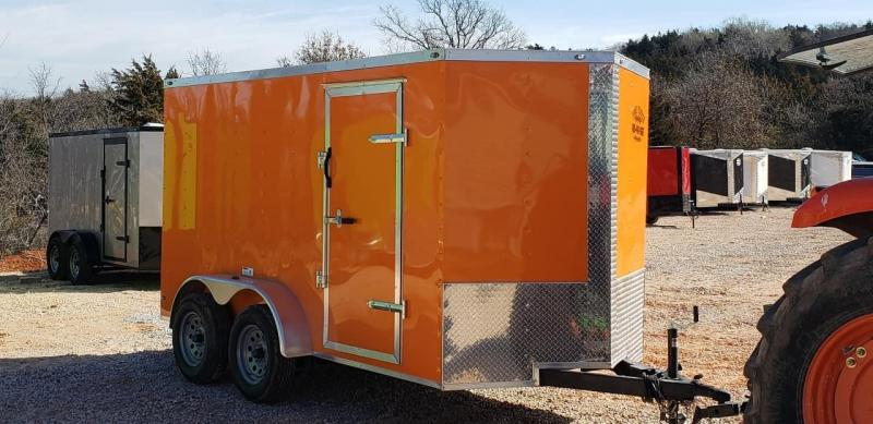 2020 Deep South 6x12 Tandem Axle Enclosed Cargo Trailer - Orange Black Out Package