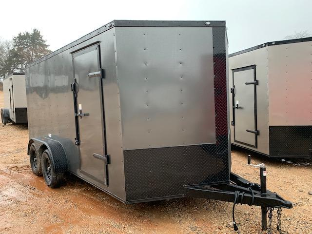 2020 Deep South 7x14 Tandem Axle Enclosed  Cargo Trailer - Charcoal Black Trim Package