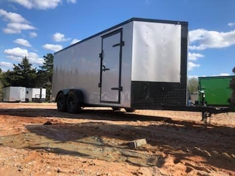 2020 Deep South 7x16 Tandem Axle Enclosed Cargo Trailer - Arizona Beige w/ Black Trim Package
