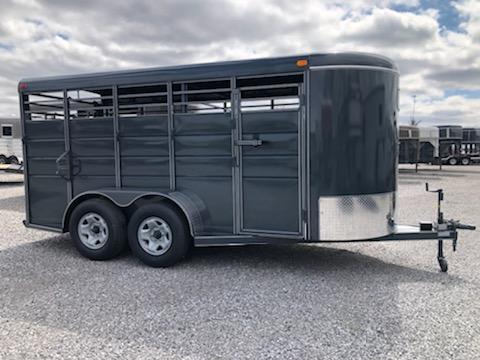 "2020 Calico Trailers 16x6x6'6"" BP Livestock Trailer"